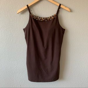 Alessandra B Beaded Camisole With Built In Bra 38C
